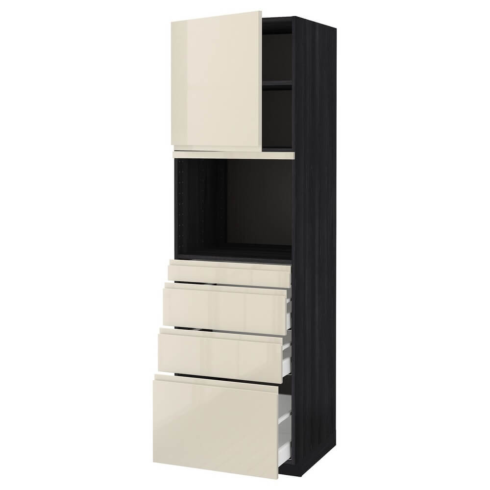 Высокий шкаф для СВЧ (дверца и 4 ящика) МЕТОД / МАКСИМЕРА