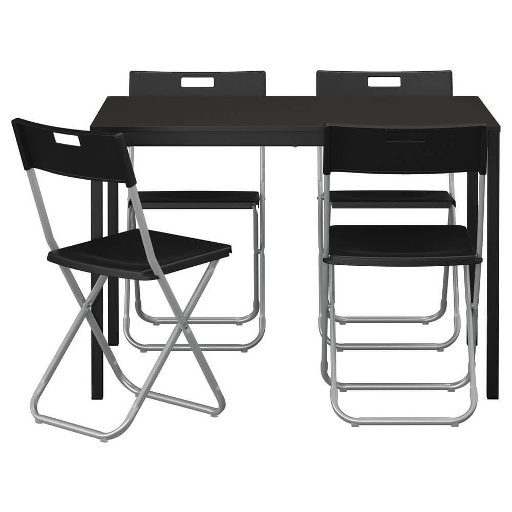 Стол и 4 стула ТЭРЕНДО / ГУНДЕ