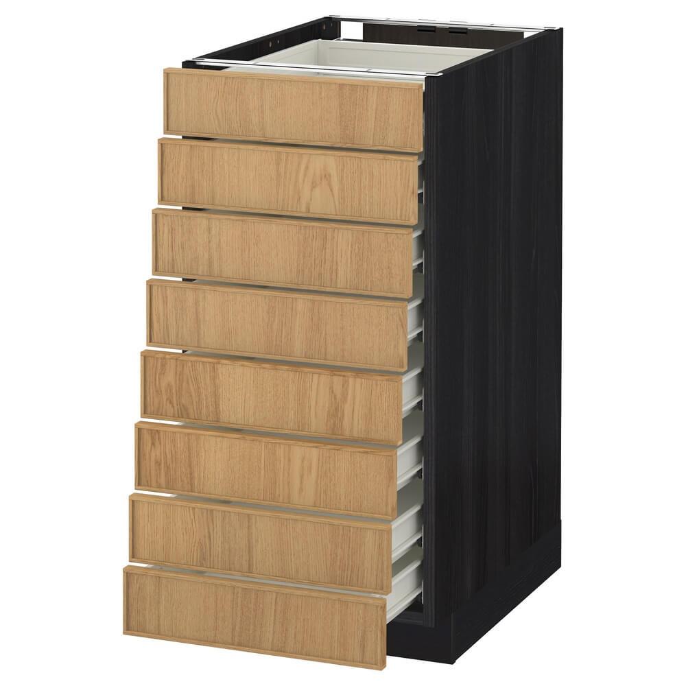 Напольный шкаф (8 фронтальных панелей и 8 низких ящиков) МЕТОД / ФОРВАРА