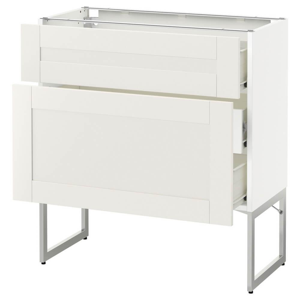 Напольный шкаф (2 фронтальные панели и 3 средних ящика) МЕТОД / ФОРВАРА