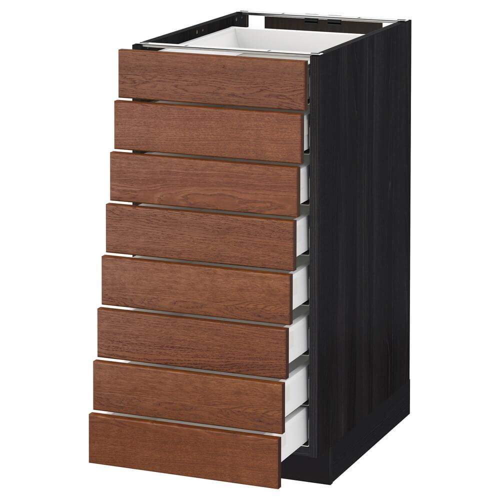 Напольный шкаф (8 фронтальных панелей и 8 низких ящиков) МЕТОД / МАКСИМЕРА