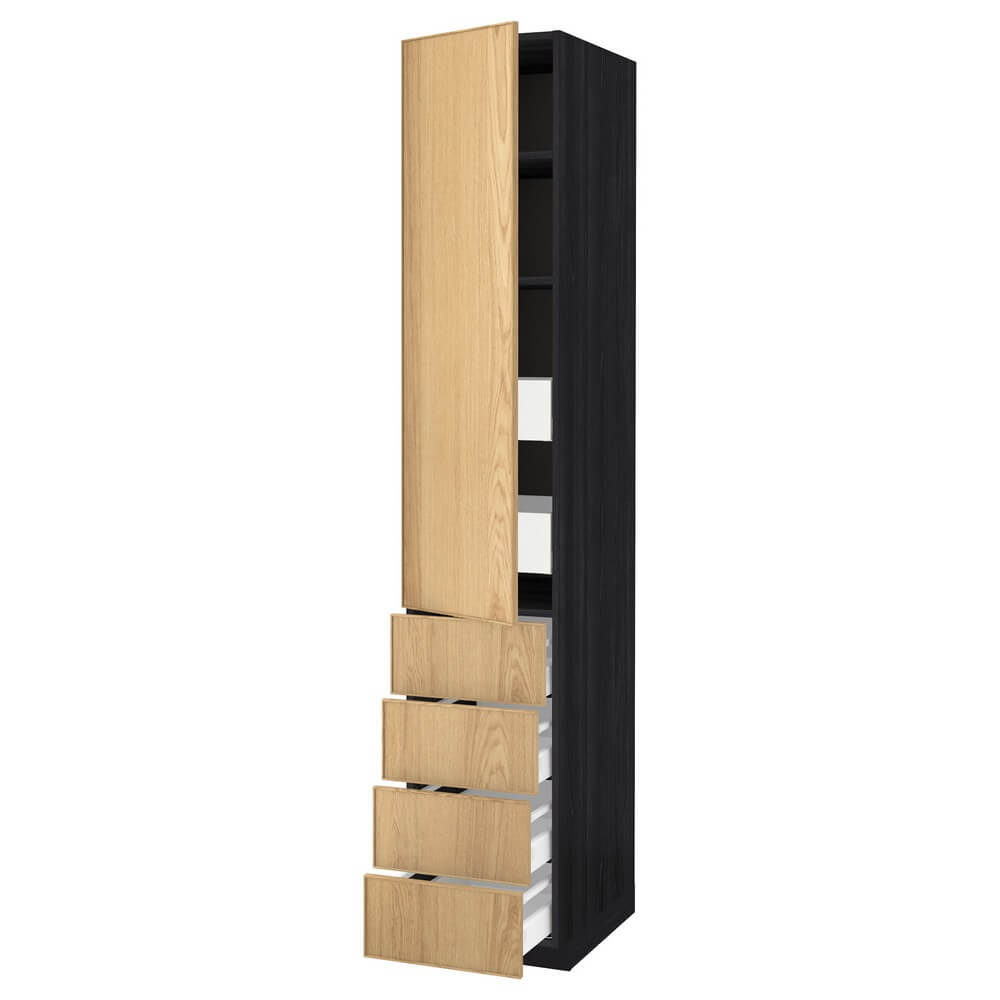 Высокий шкаф с полками (6 ящиков и дверца) МЕТОД / МАКСИМЕРА