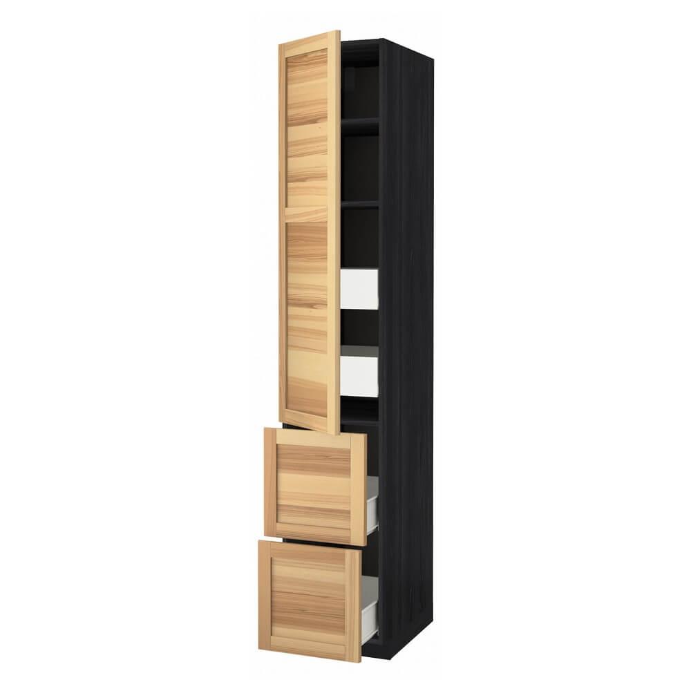 Высокий шкаф (полки, 4 ящика и 2 дверцы) МЕТОД / ФОРВАРА