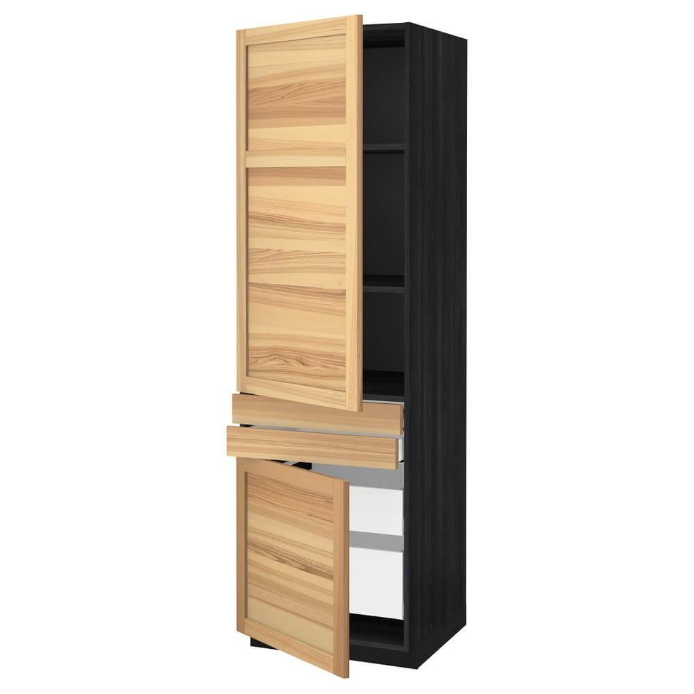 Высокий шкаф (полки, 4 ящика и 2 дверцы) МЕТОД / МАКСИМЕРА