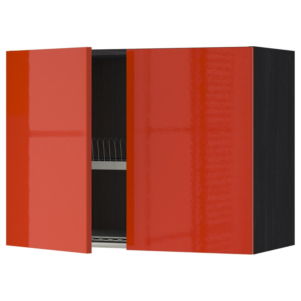 Навесной шкаф с сушилкой для посуды (2 дверцы) МЕТОД