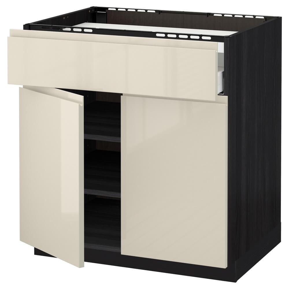 Напольный шкаф для варочной панели (ящик, полка и 2 дверцы) МЕТОД / МАКСИМЕРА