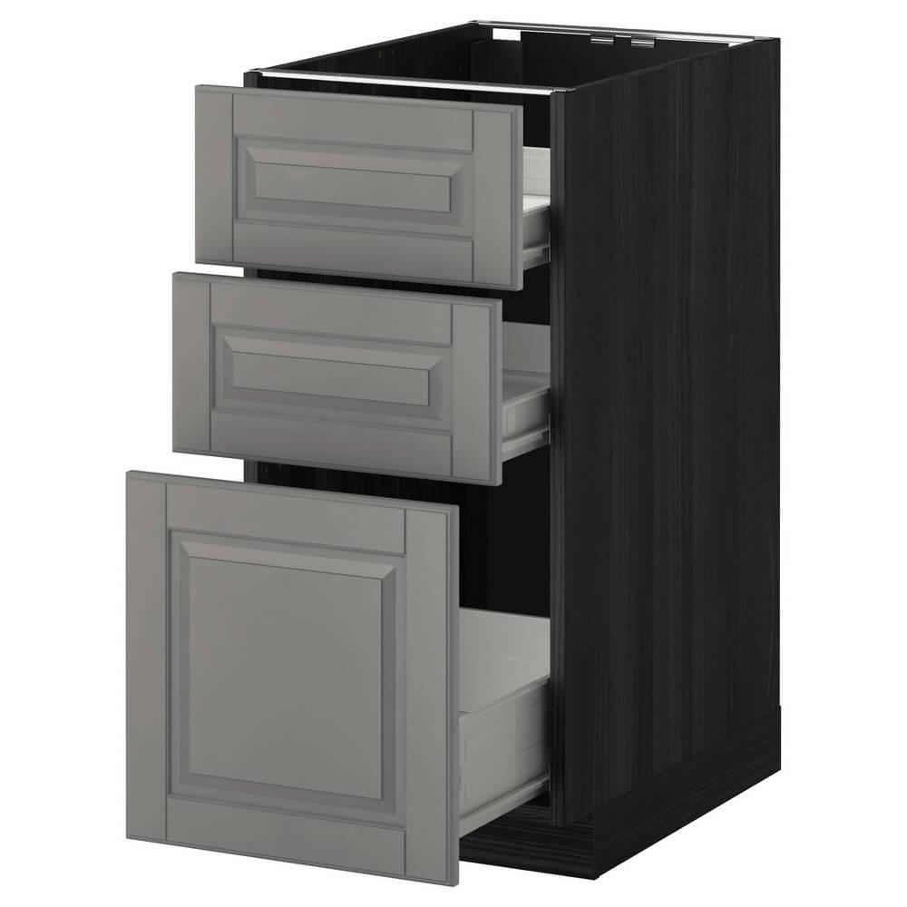 Напольный шкаф (3 фронтальные панели, 2 низких и 1 средний ящик) МЕТОД / ФОРВАРА