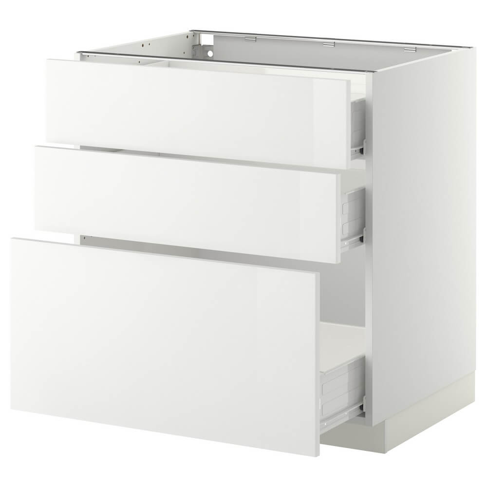 Напольный шкаф (3 фронтальные панели и 3 средних ящика) МЕТОД / ФОРВАРА