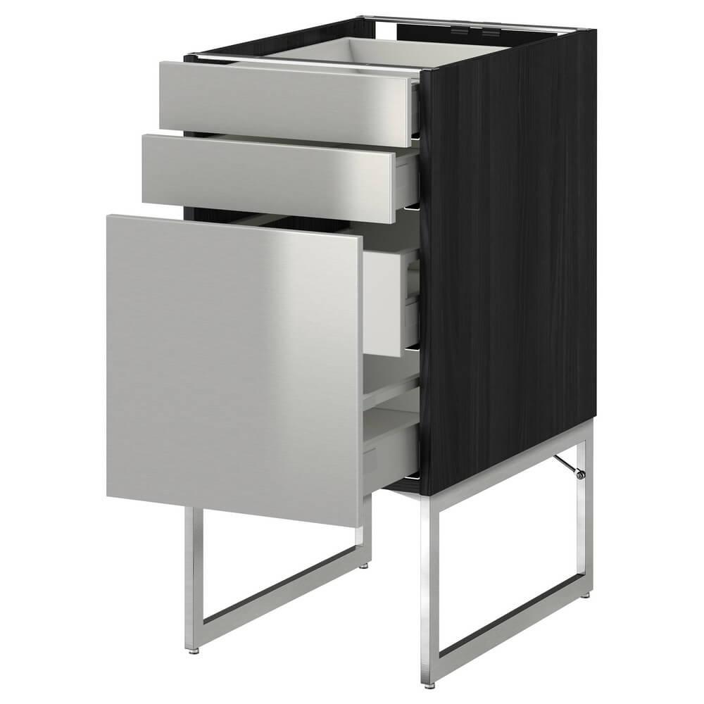 Напольный шкаф (3 фронтальные панели, 2 низких и 2 средних ящика) МЕТОД / МАКСИМЕРА
