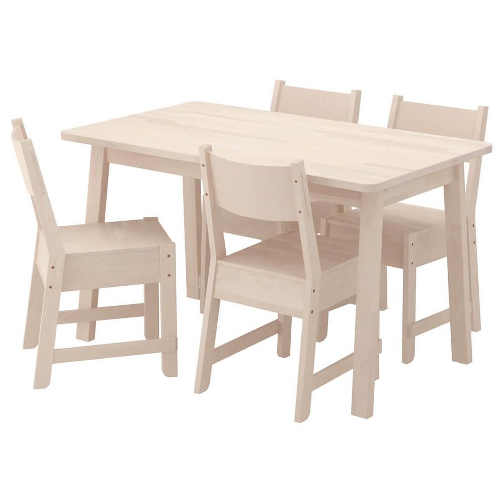 Стол и 4 стула НОРРОКЕР / НОРРОКЕР