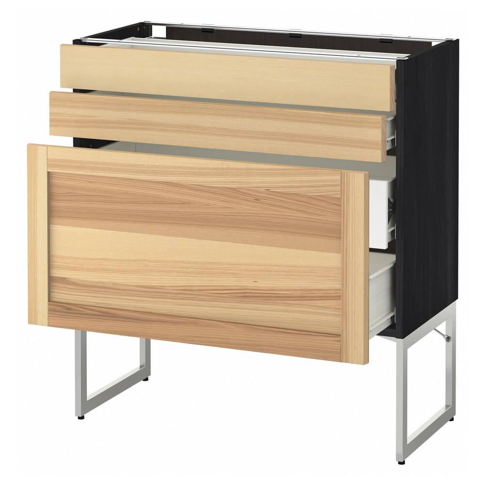 Напольный шкаф (3 фронтальные панели, 2 низких и 2 средних ящика) МЕТОД / ФОРВАРА