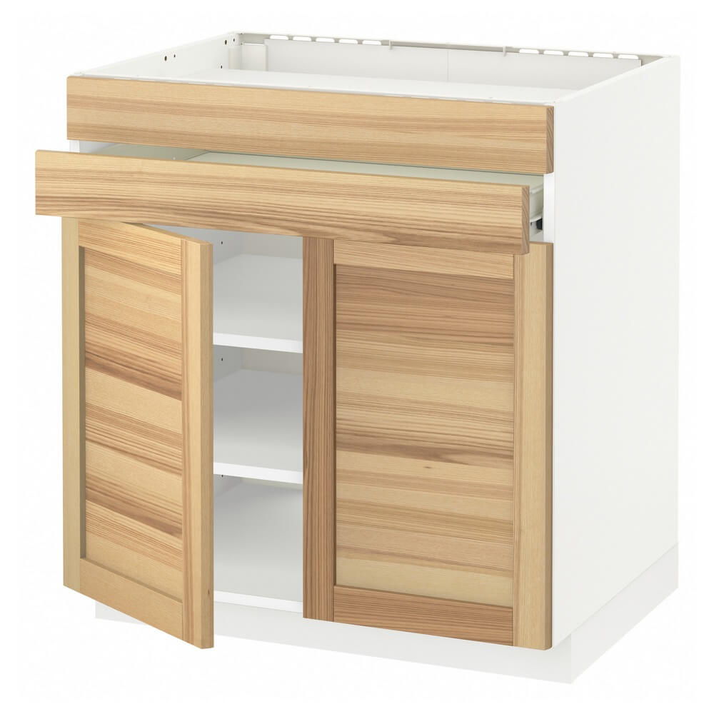 Напольный шкаф для варочной панели (2 ящика, 2 фасада и 1 ящик) МЕТОД / ФОРВАРА