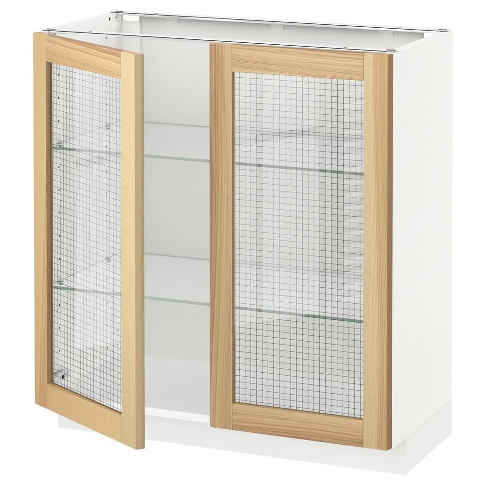 Напольный шкаф с 2 стеклянными дверцами МЕТОД