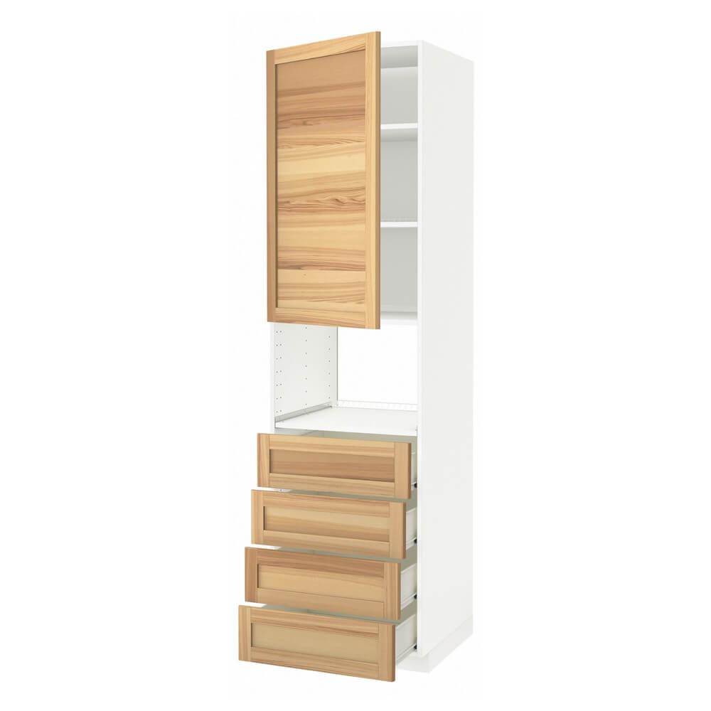 Высокий шкаф для духовки (дверца и 4 ящика) МЕТОД / ФОРВАРА