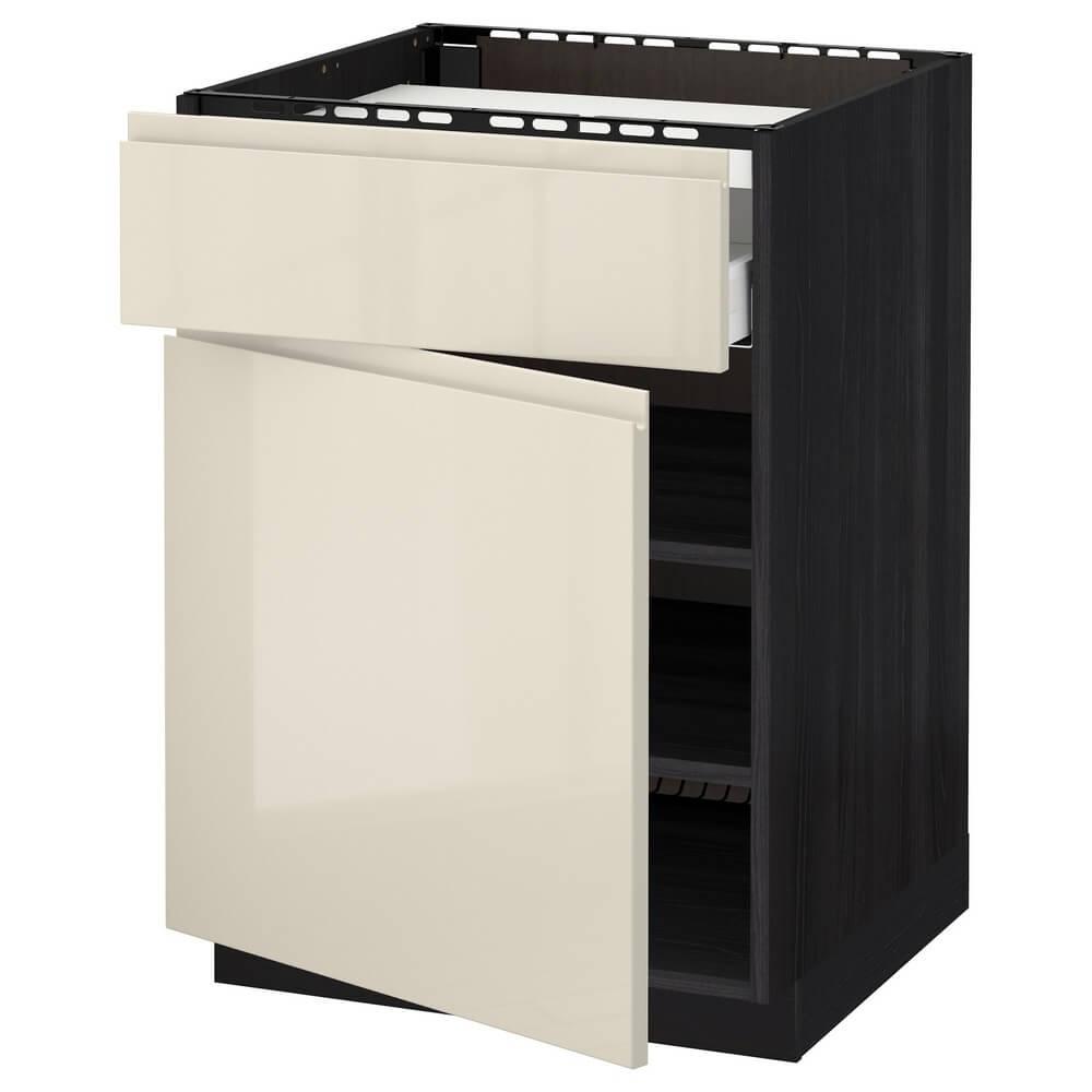Напольный шкаф для варочной панели (ящик, полки и дверца) МЕТОД / МАКСИМЕРА