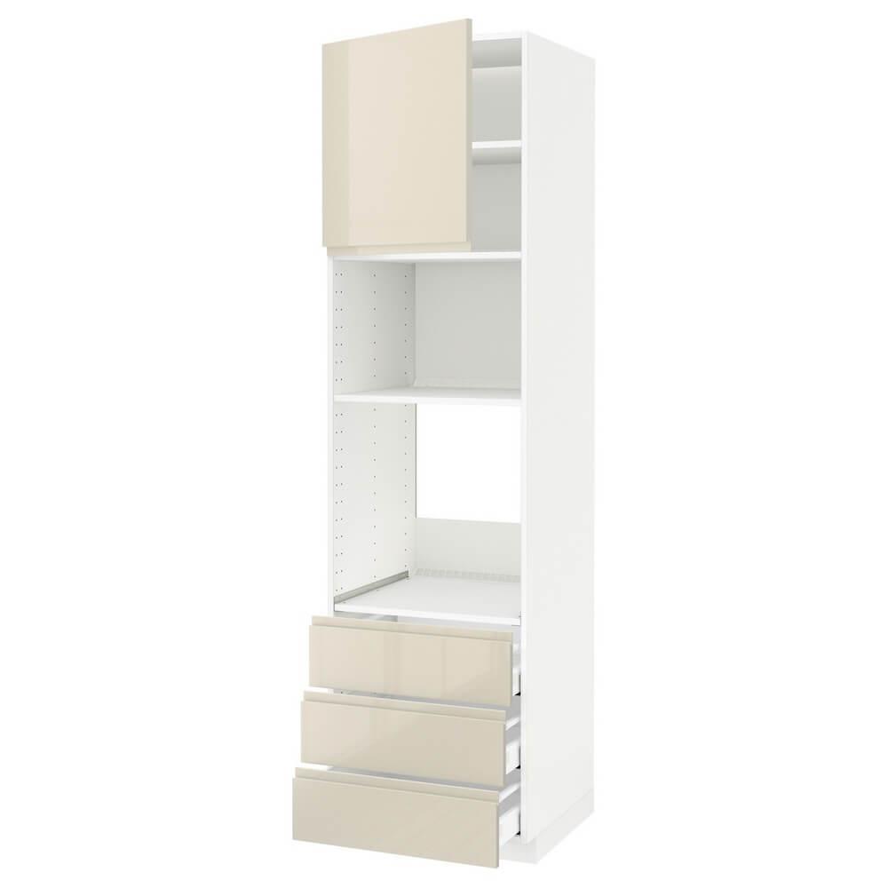 Высокий шкаф для духовки или СВЧ (дверца и 3 ящика) МЕТОД / МАКСИМЕРА