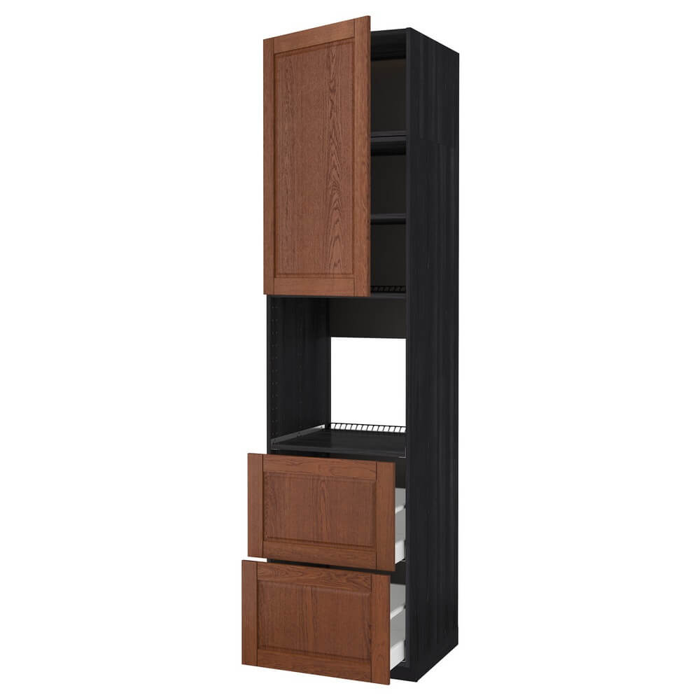Высокий шкаф для духовки (дверца и 2 ящика) МЕТОД / МАКСИМЕРА