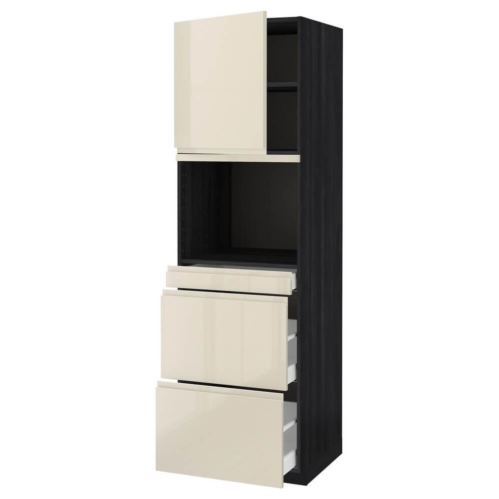 Высокий шкаф для СВЧ (дверца и 3 ящика) МЕТОД / МАКСИМЕРА
