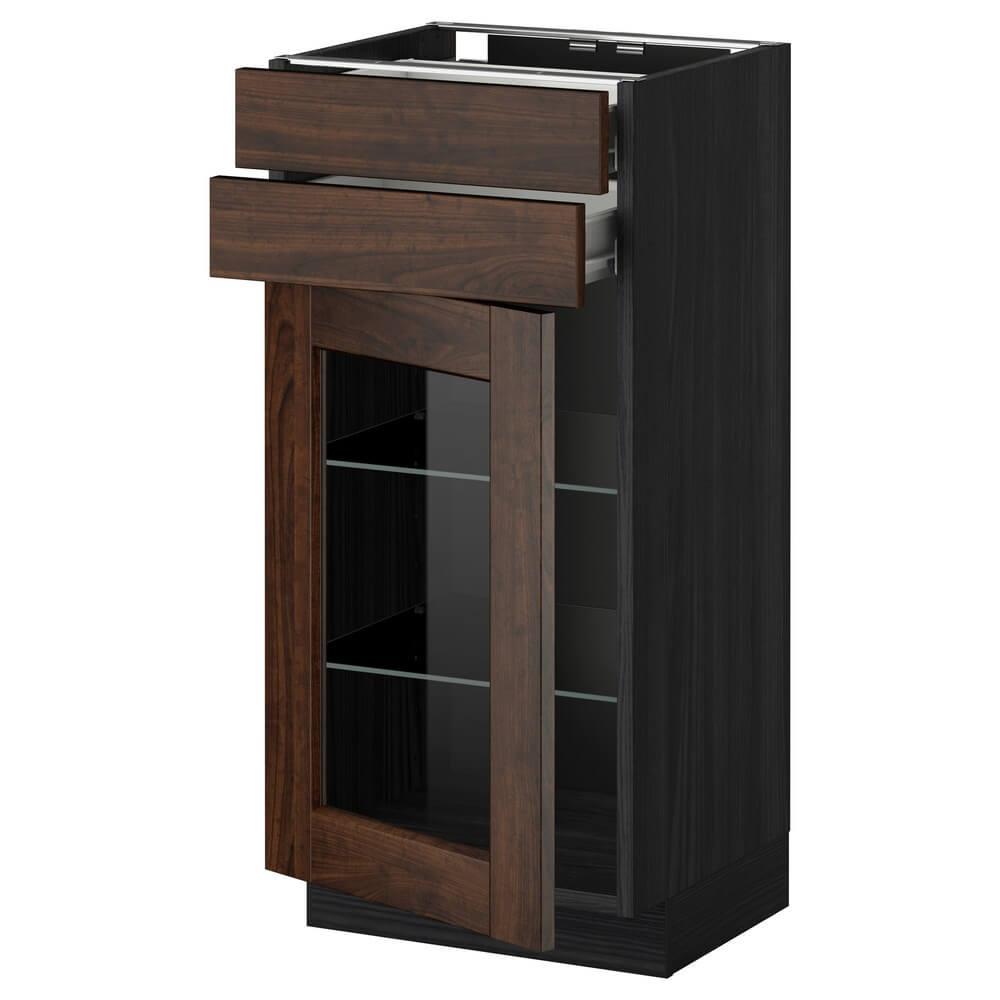 Напольный шкаф (2 ящика и 2 стеклянные дверцы) МЕТОД / ФОРВАРА