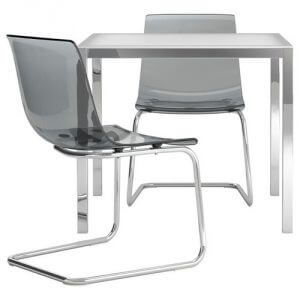 ОРСБИ/ТОБИАС Стол и 2 стула IKEA На 2 персоны