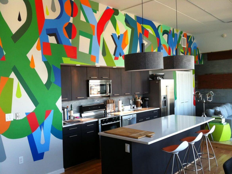 Дизайн кухни в стиле поп-арт