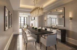 Кухня и столовая в разных помещениях