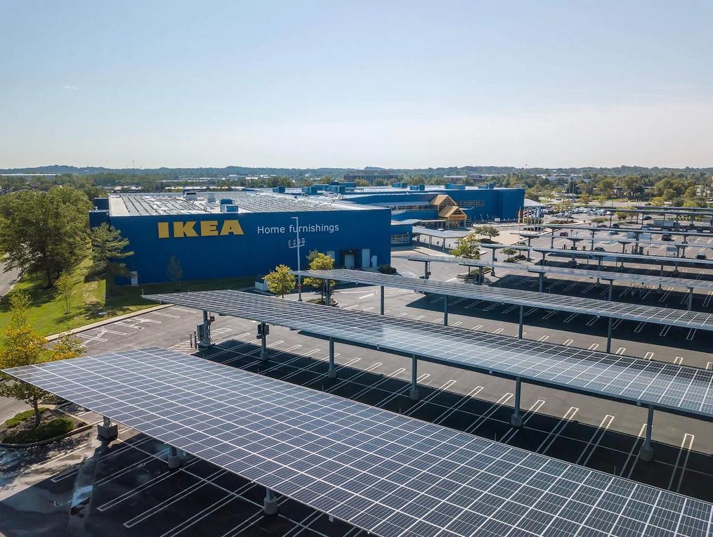 ИКЕА открывает парк автомобилей на солнечных батареях