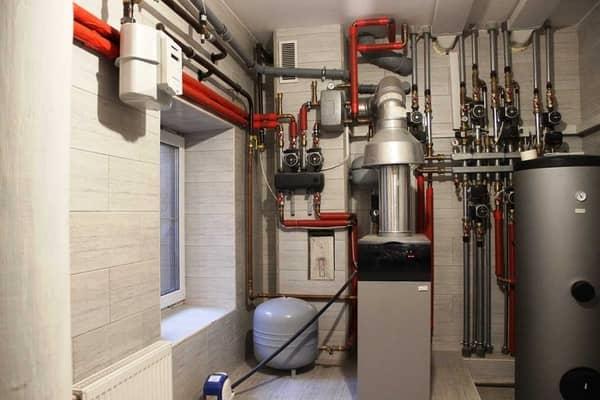 Пример организации газового отопления в помещении
